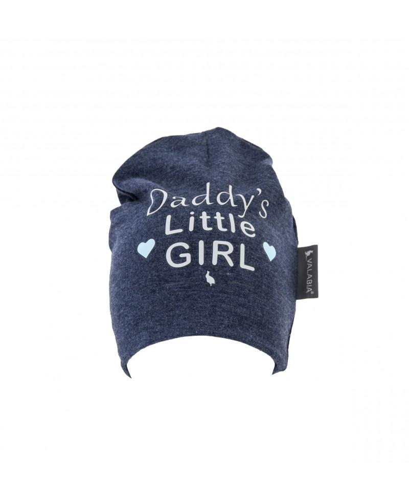"""Czapka bawełniana dla niemowlaka i starszaka """"Daddy's little GIRL"""" Jeans"""