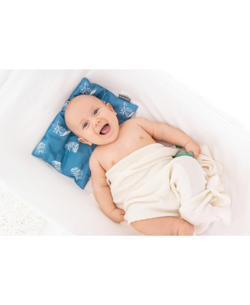 Bawełniana poduszeczka noworodka BLUE
