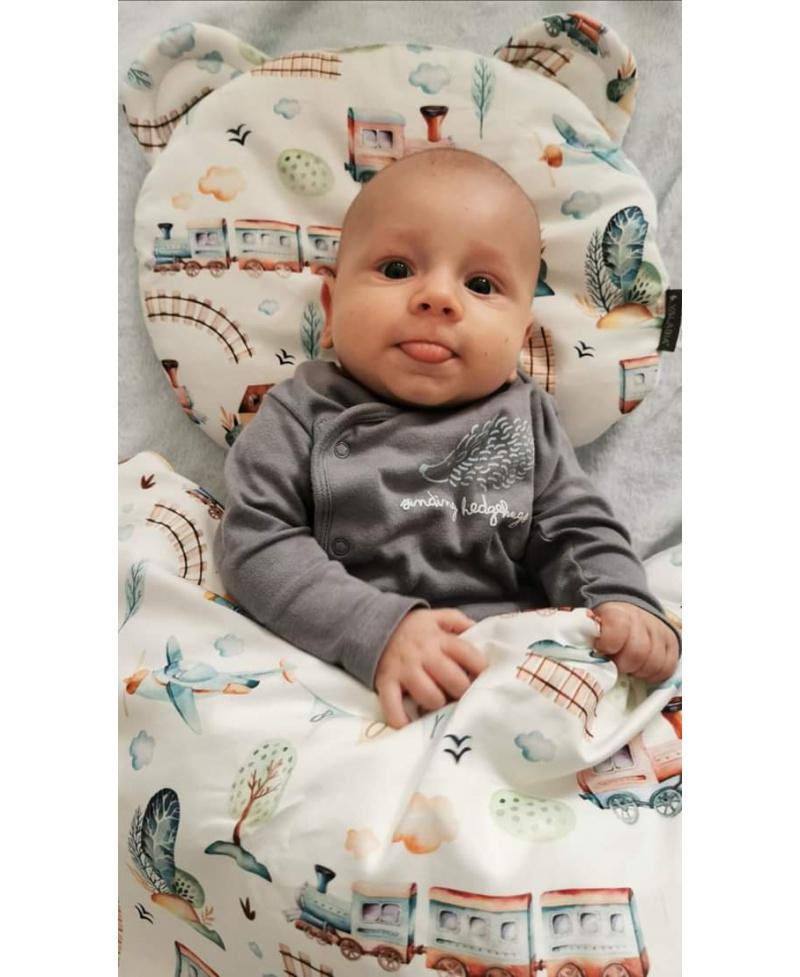 Mała bawełniana kołderka niemowlaka i starszaka PODRÓŻNIK