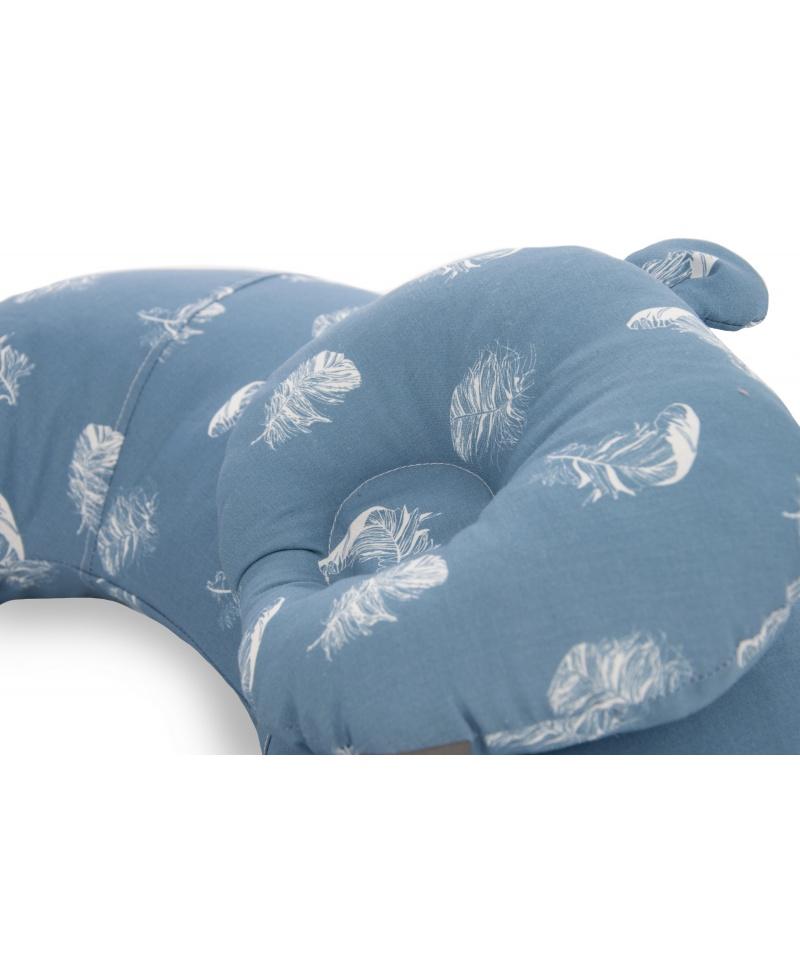 Zestaw  SOFI rogal do karmienia i poduszka modelująca główkę BLUE