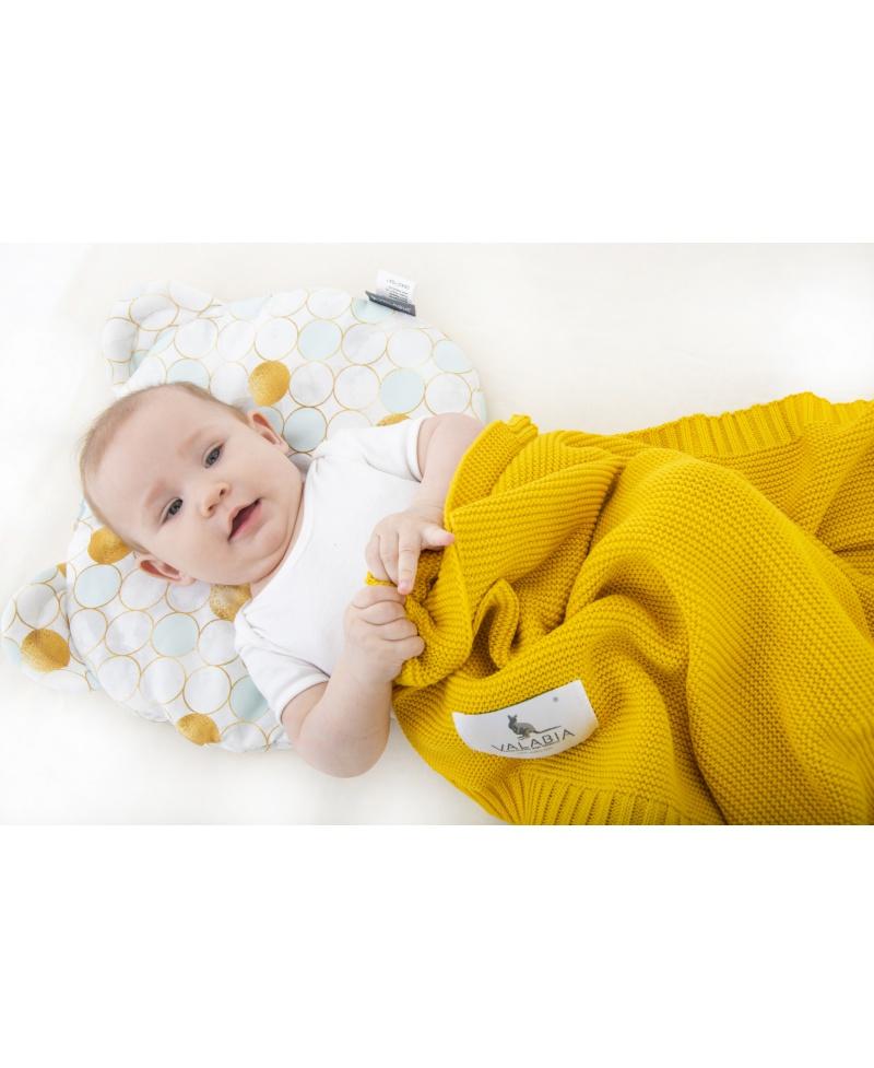 Bawełniana poduszka niemowlaka i starszaka Miś GLAMOUR