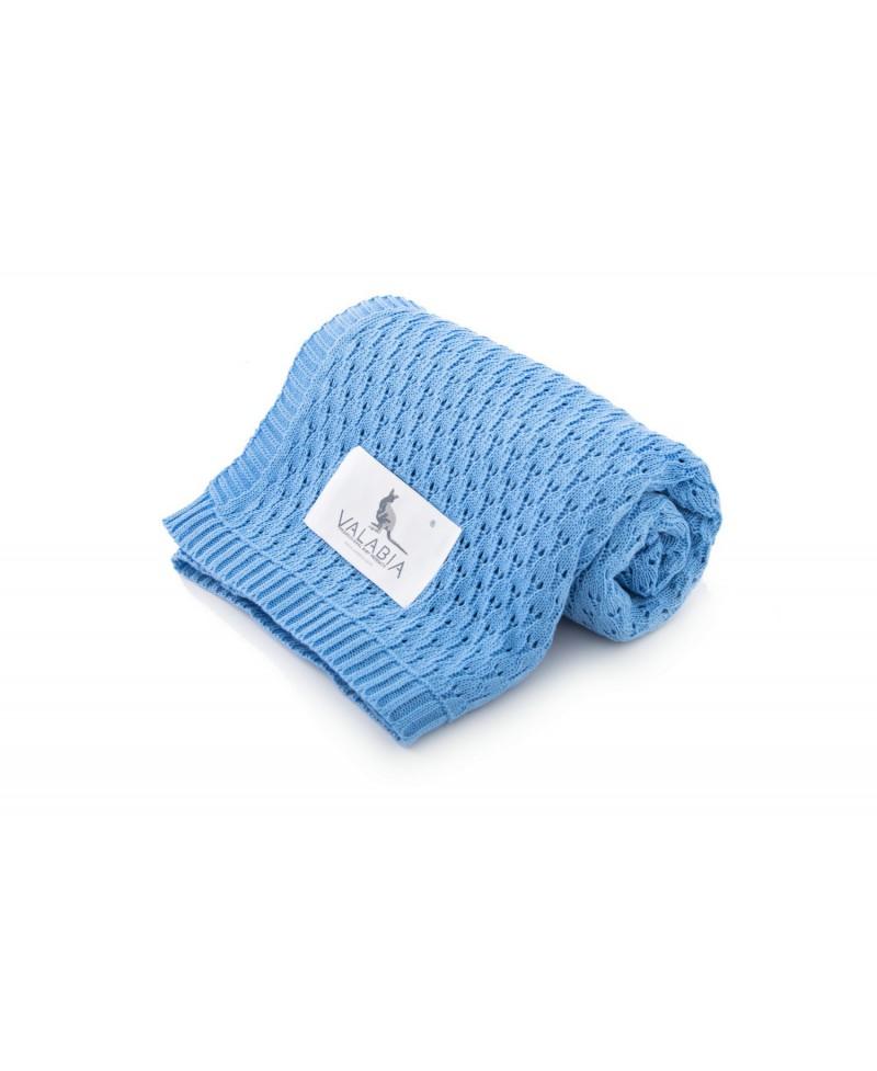 Kocyk ażurowy bawełniany TULIPANEK obłoczek