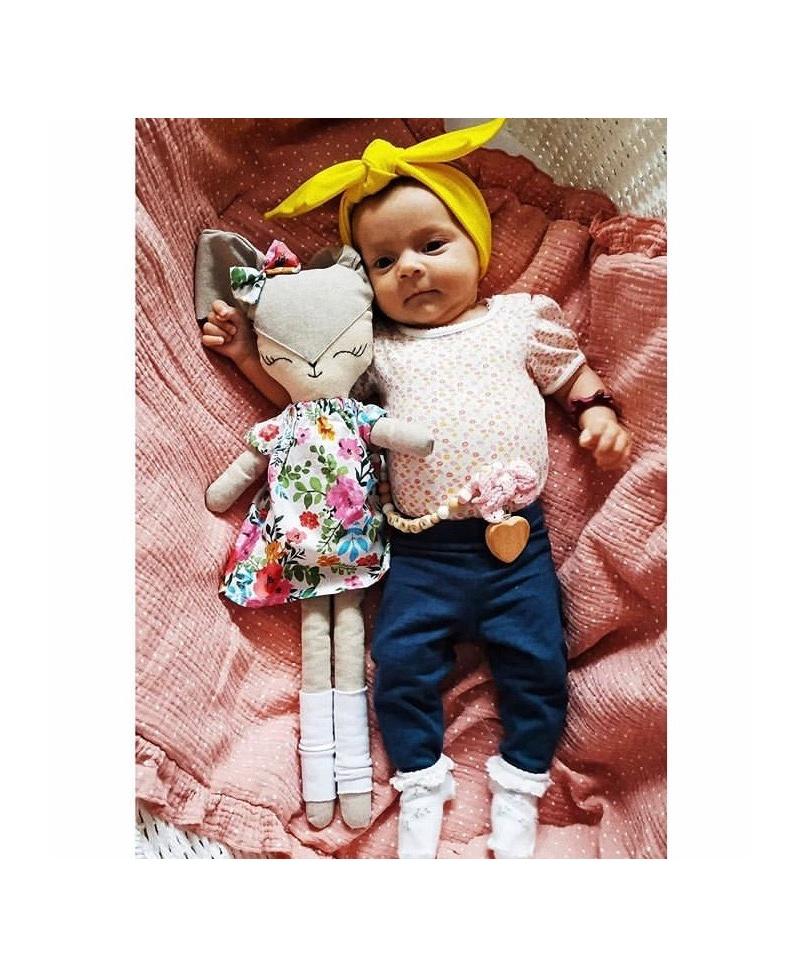Pościel muślinowa dziecięca – poduszka serce + kołderka Papryka