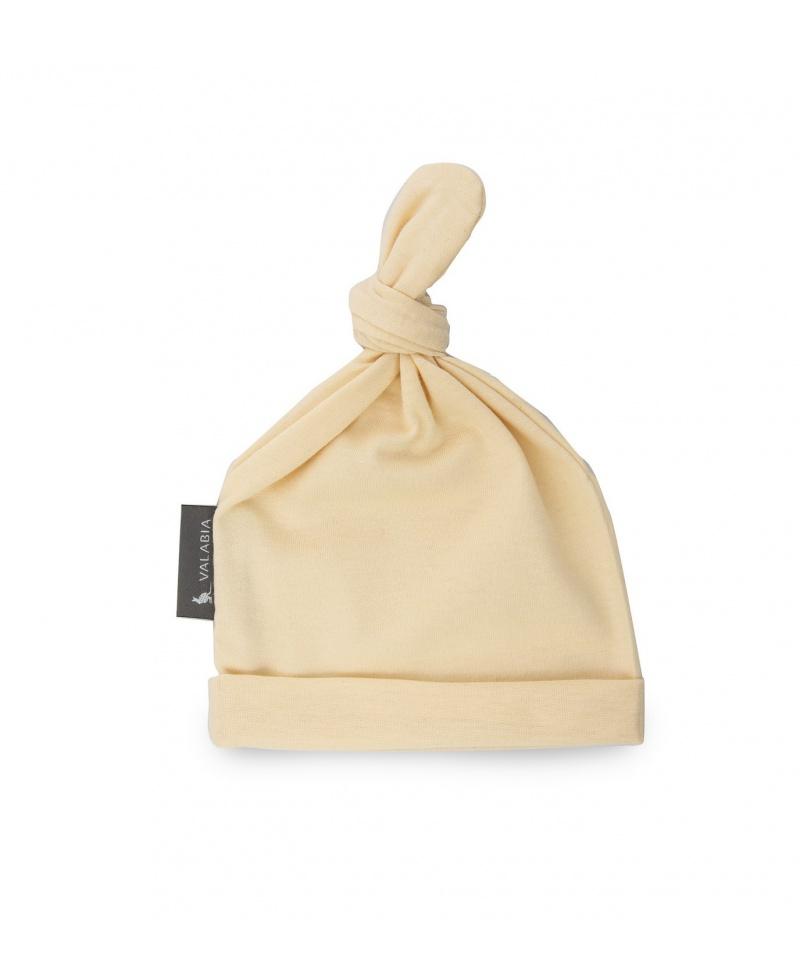 Pierwsza czapeczka noworodka Żółta