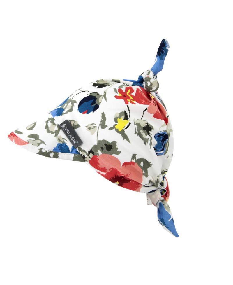Chustka bawełniana z daszkiem dla niemowlaka i starszaka FLOWERS