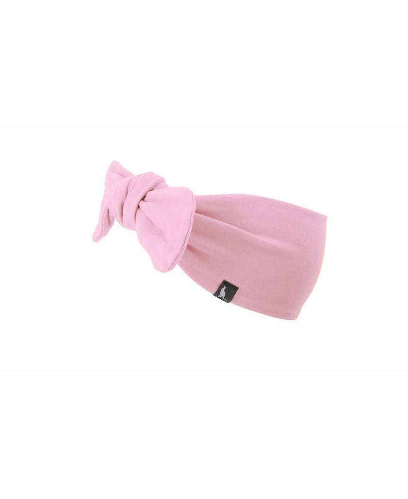 Opaska bawełniana z kokardą Mama & Córka Baby Pink