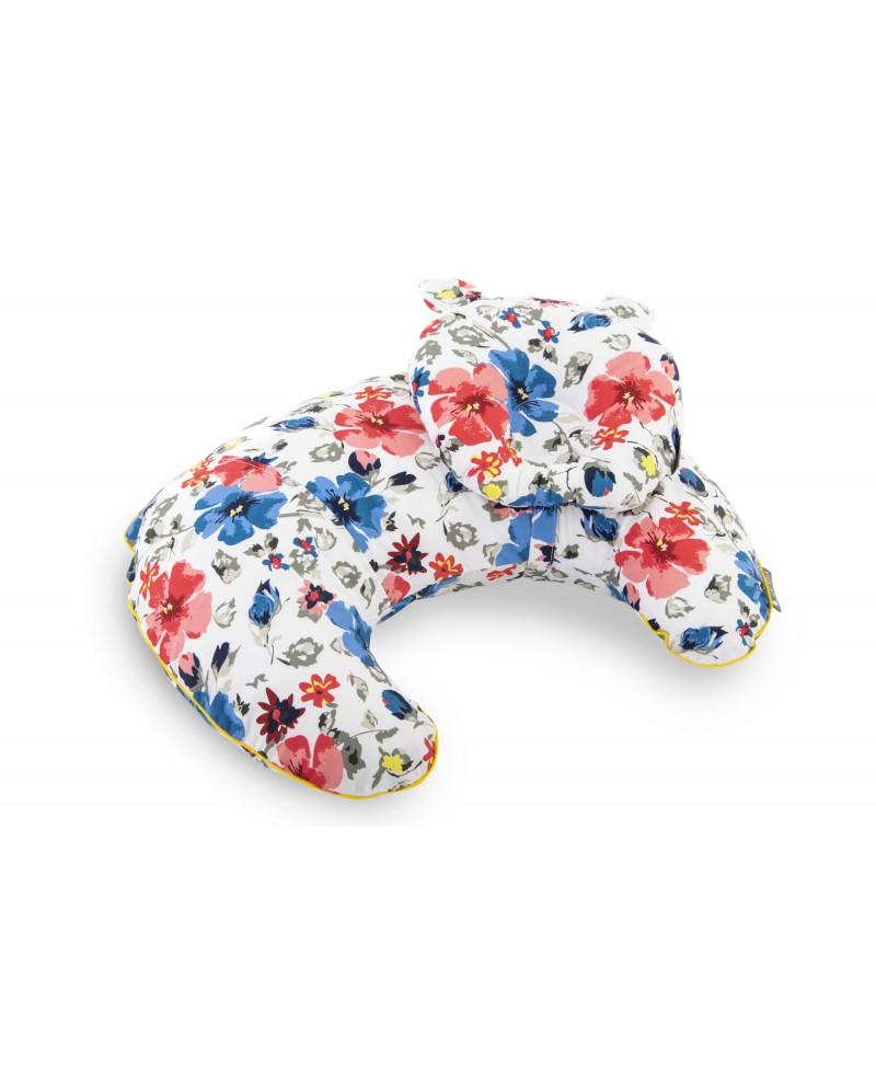 Zestaw  SOFI rogal do karmienia i poduszka modelująca główkę FLOWERS