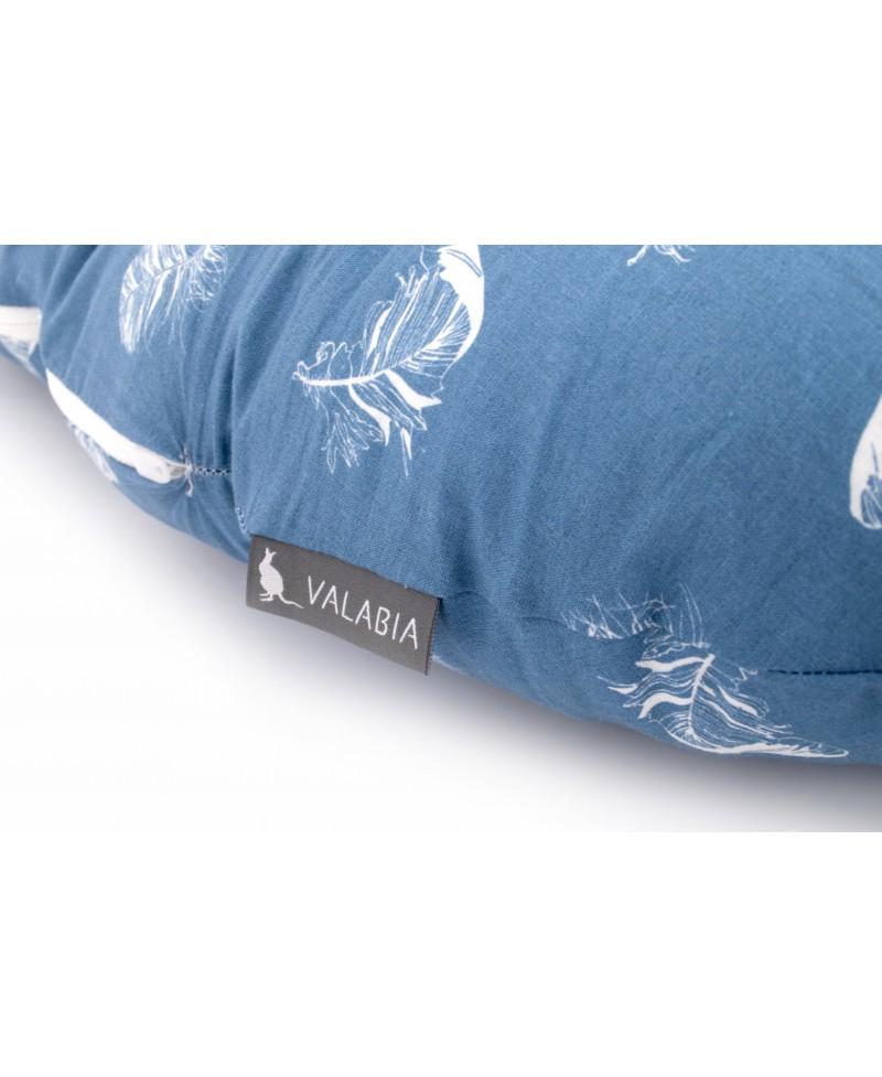Poduszka ciążowa kojec do spania i karmienia rogal typu C BLUE