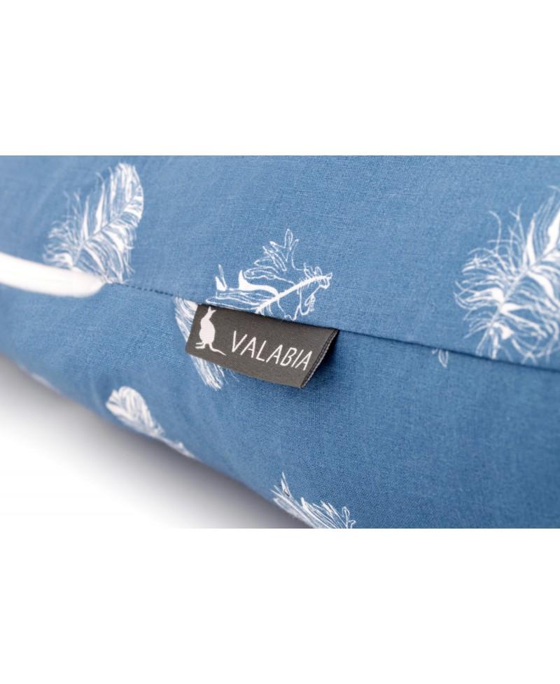 Poduszka ciążowa do spania i karmienia typu I BLUE