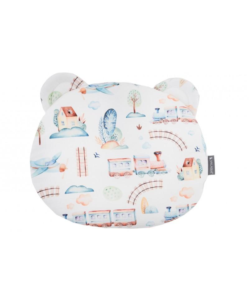 Bawełniana poduszka niemowlaka i starszaka Miś PODRÓŻNIK