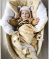 Duża kołderka-kocyk niemowlaka i starszaka GOLDEN